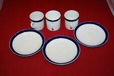 Aynsley Coffee Cup + 2 Unmarked Coffee Cups & 3 Saucers