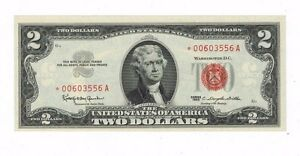 1963 Red Seal star Note $2.00 Federal Reserve Uncirculated Two Dallas star