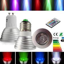 E27 GU10 3W 16 Color LED RGB Magic Spot Light Bulbs Lamp Wireless Remote Control