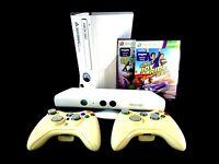 Very Rare White NTSC-J Microsoft XBox 360S 250GB +KINECT +2 Controllers +2 games