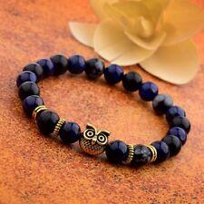 DouVei Fashion Snowflake Stone Artificial Lapis Lazuli Bead Bracelet  Men Women