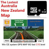 Latest 8GB GPS maps micro SD card Australia New Zealand for WIN CE system device