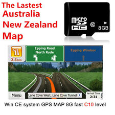 Latest 8GB GPS maps micro SD card Australia New Zealand for WIN CE system device