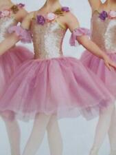 NWT Capezio classical Tutu Adult One size Nylon Net White Pink style 9829