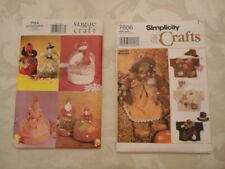 New listing Simplicity 7606 Pattern Bear Hat Dress Jacket - Vogue 7164 Holiday Gift Bags