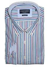Camisas de vestir de hombre multicolores color principal azul 100% algodón