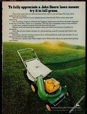 """1979 JOHN DEERE 21"""" Deluxe Lawn Mower Vintage Photo AD"""