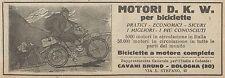 Y7904 Biciclette a motore D.K.W. - Pubblicità d'epoca - 1925 Old advertising