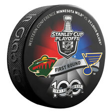 2017 ST LOUIS BLUES vs MINNESOTA WILD Stanley Cup Playoff Hockey Puck