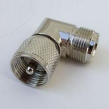 PL259 - SO239 ANGLED COUPLER RF AERIAL CONNECTOR VHF UHF AMATEUR MARINE RADIO CB