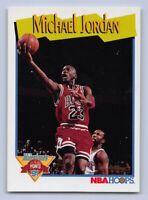 "1991-92  MICHAEL JORDAN NBA Hoops ""MILESTONES"" Basketball Card # 317 BULLS GOAT"