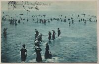 Vintage Real Photo Post Card RPPC Lake Cedar Point OH Posted 1907 Divided Back