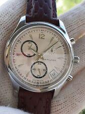 Hamilton Watch H185120 Jazzmaster Chronograph Quartz Mens 40mm Swiss Made