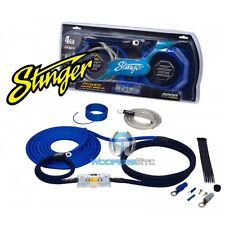 STINGER SK6241 CAR AUDIO AMP 4 GAUGE WIRE AMPLIFIER PRO WIRING INSTALL KIT NEW