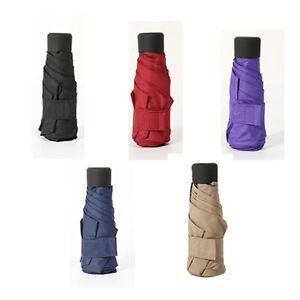 Mini Pocket 5-Fold Umbrella Sunny Rainy Folding Umbrellas Small Sun Parasol