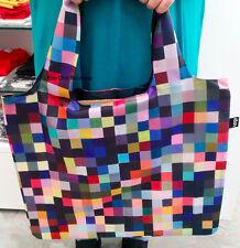 """MUSEUM ART Pixels """"1024 Colours"""" Richter LOQI Eco Reusable SHOPPING Bag & Pouch"""