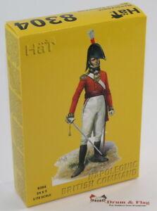 HaT 8304 Napoleonic British Command 1/72 Scale. Plastic toy soldiers.