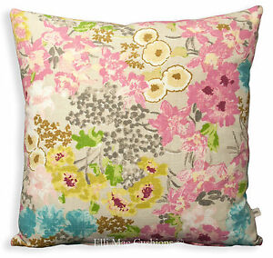Harlequin Florica Designer Chenille Fabric Pink Blue Sofa Cushion Pillow Cover