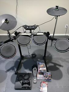 HUGE Rock Band Guitar Hero Playstation 3 PS3 Ion Drum/Console Bundle - 14 Games!