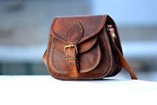 Women Vintage Looking Brown Leather Messenger Bag Handmade Purse Cross Body Bag