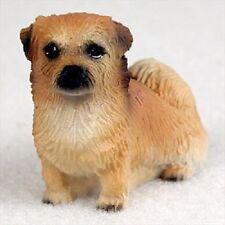 Tibetan Spaniel dog Figurine resin Hand Painted Miniature Small Mini Collectible