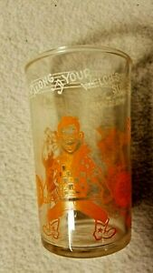 Vintage Howdy Doody Welch's Juice/Jelly Glass-Orange Graphics with Clarabelle