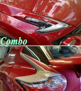 Headlight eyebrows & REAR Tail Light lamp cover trim for Nissan JUKE 2015 After