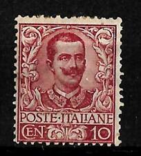 1901 - Floreale - cent 10 - sassone 71 - nuovo linguellato