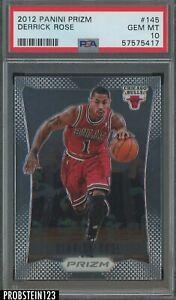 2012-13 Panini Prizm #145 Derrick Rose Chicago Bulls PSA 10 GEM MINT