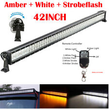 """42 Inch Amber/White/Strobe Led Work Light Bar Combo Off road Wireless Remote 40"""""""