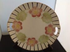 "Prov Saxe E.S. Vintage Hand Painted Porcelain 10"" Cake Plate made in Germany"