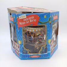 Vintage 1994 Mr Christmas Musical Holiday Merry Go Round Carousel w/Original Box