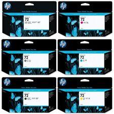 Genuine HP 72 Ink Cartridges - Black Yellow Magenta Cyan Grey Photo Matt 130ml