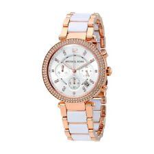 Horloge Femme Michael Kors Parker MK5774 Poignet Sangle Bracelet Chronographe