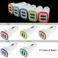 2.1A / 1.0A Portable Dual USB Port Charger LED Adapter 12V For IOS Android