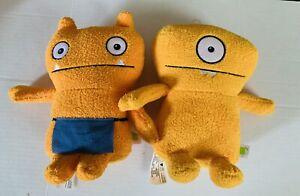"Hasbro Wage the Helper, Wedge Head Ugly Dolls Plush Orange Stuffed Toy 9"""