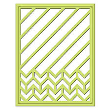 SPELLBINDERS SHAPEABILITIES DIAGONAL CHEVRON BACKGROUND CUTTING DIE S4-453 NEW