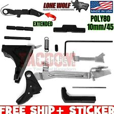 Lone Wolf Lower Parts LWD Frame Kit P80-LG 45 Gen 3 Trigger 45acp 10mm 20 21