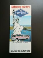 "Flyer: ""Sightseeing New York *The GRAY LINE"" New York - USA"" /1971"