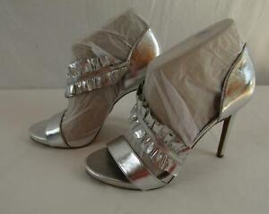 MICHAEL Michael Kors Bella Platform Silver Metallic Sandals Sz 7 NIB MMKS01
