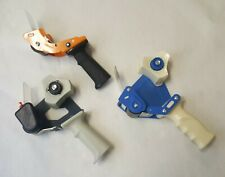 "Used Lot of 3 Uline & Other Tape Dispensers 2"" Side Load Industrial Packing Gun"