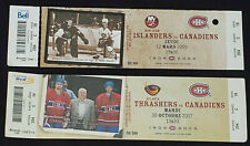 2007/09 MONTREAL CANADIENS BELL CENTER TICKETS (2) - BELIVEAU + HOULE AUTOGRAPHS