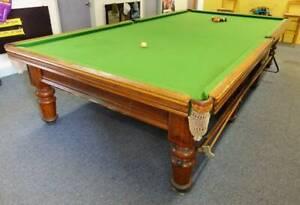 Full size 12' x 6' Heiron & Smith Slate billiard table (Snooker)