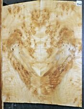 Flame Curly Maple Burl Wood 9308 Luthier Guitar Top Set 21.5 x 17 x .375