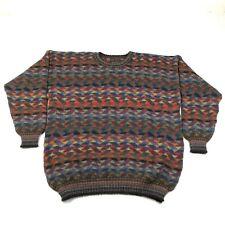 Vintage Inti George Alexander Sweater Mens M Alpaca Wool Multicolor Geometric