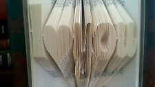 I LOVE YOU Hand Folded Book Art  Boyfriend Girlfirend 1st Anniversary Paper Gift