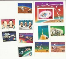 BURKINA FASO ( formerly Upper Volta)- Space theme, unlisted imperf varieties