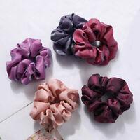 Silky Bright Satin Scrunchies Fashion Women Hair Rope Elastic Ponytail Hair Ring