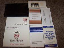 2000 Dodge Ram Pickup Owner Operator Manual Work Special ST SLT V6 V8 3.9L 5.2L