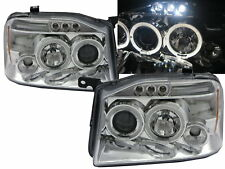 NP300 D22 2001-2004 LED Halo Projector Headlight Chrome Euro for NISSAN LHD